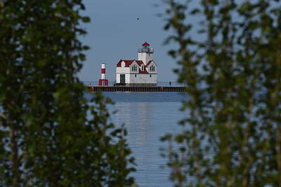 Photograph - Kewaunee Lighthouse by Janice Adomeit