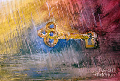 Painting - Key by Allison Ashton