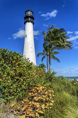 Photograph - Key Biscayne Lighthouse Florida Dsc01895_16 by Greg Kluempers