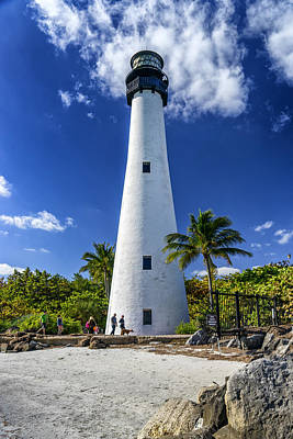 Photograph - Key Biscayne Lighthouse Florida Dsc01914_16 by Greg Kluempers