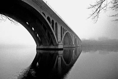 Key Bridge In Fog Art Print