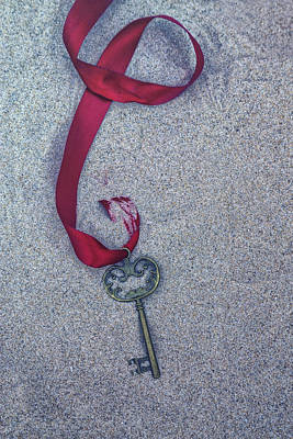 Key Buried In The Sand Art Print by Joana Kruse