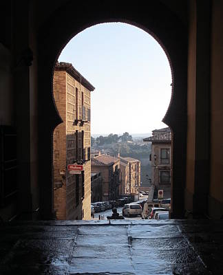 Key Hole View Of Tuscany Art Print by Diane Berard