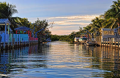 Key Largo Canal Art Print
