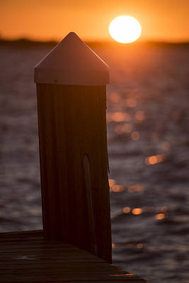 Photograph - Key Largo Florida Pier Sunset by Toby McGuire