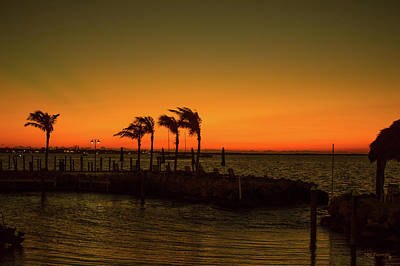 Photograph - Key Largo Orange Sunset  by Ken Figurski