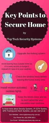 Gps Digital Art - Key Points To Secure Home By Top Tech Security by Ashley Beth