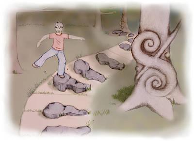 Mixed Media - Key Stone Path by Stephanie Hollingsworth