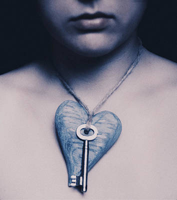 Heart Necklace Photograph - Key To Your Heart by Art of Invi