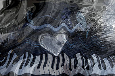 Print featuring the digital art Key Waves by Linda Sannuti