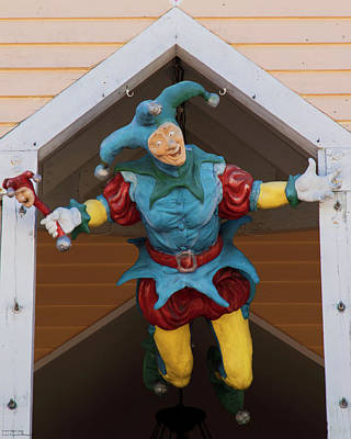 Photograph - Key West Art - The Flying Jester  by Hany J