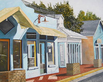 Painting - Key West Bahama Village by John Schuller