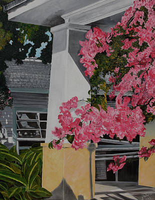 Painting - Key West Bougainvillea by John Schuller