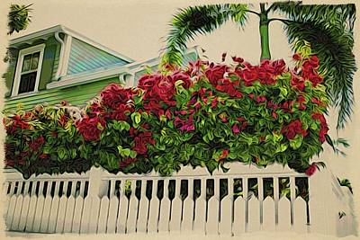 Photograph - Key West Bouganvilla by Alice Gipson