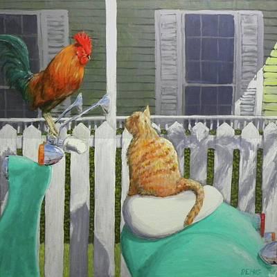 Painting - Key West Buddies by Paul Emig