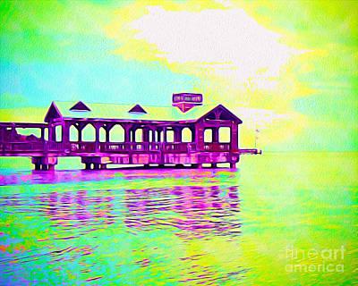 Beach Landscape Mixed Media - Key West by Chris Andruskiewicz