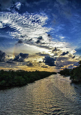 Photograph - Key West Cloud Sunset Greeting Card by Bob Slitzan