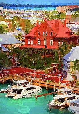 Photograph - Key West Custom House by Alice Gipson