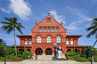 Photograph - Key West Custom House Museum  -  Key West Florida by Frank J Benz