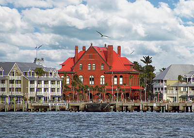 Photograph - Key West Custom House Greeting Card by Bob Slitzan