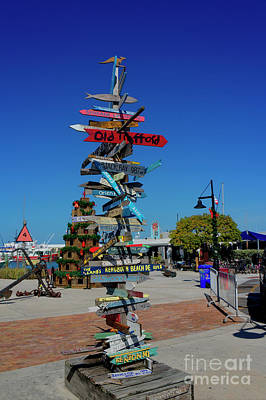Photograph - Key West Destination Sign by Ules Barnwell