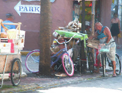 Conversation Mixed Media - Key West Duval Street Conversation by JG Thompson