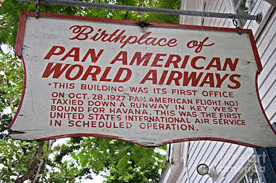 Photograph - Key West Florida - Pan American Airways Birthplace by John Stephens