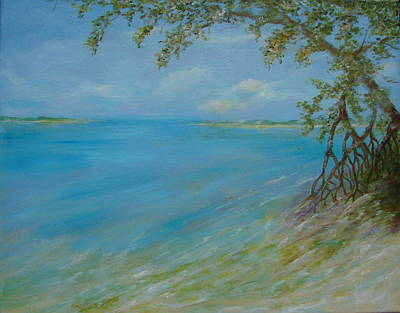 Key West Hanging Out Print by Phyllis OShields