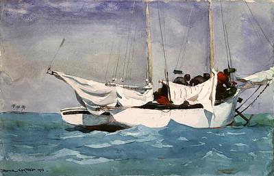 Winslow Digital Art - Key West Hauling by Winslow Homer