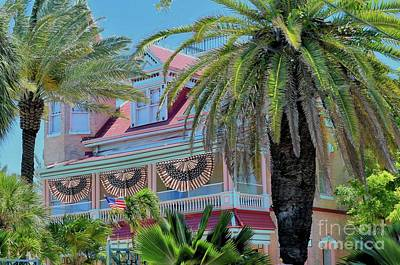 Photograph - Key West Historic Pink House by Janette Boyd