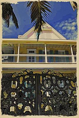 Photograph - Key West Iron by Alice Gipson
