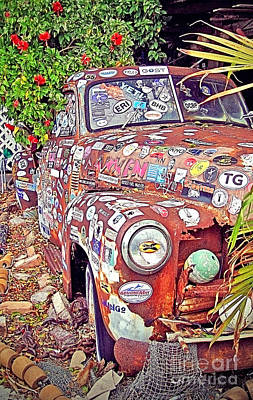 Key West Junk Truck I Art Print by Chris Andruskiewicz