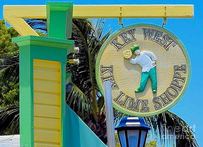 Key West Key Lime Shoppe Art Print