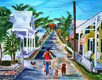 Painting - Key West Lane by Linda Cabrera