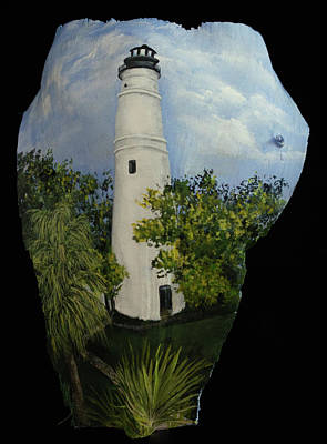 Painting - Key West Light House by Nancy Lauby
