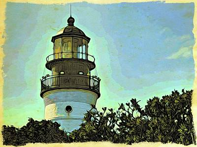 Photograph - Key West Lighthouse Above The Trees by Alice Gipson