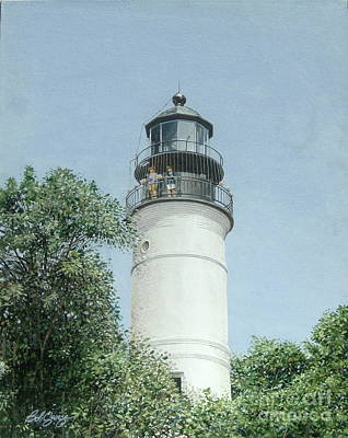 Painting - Key West Lighthouse by Bob George