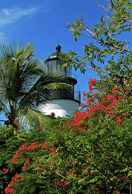 Key West Lighthouse Print by Frank Mari