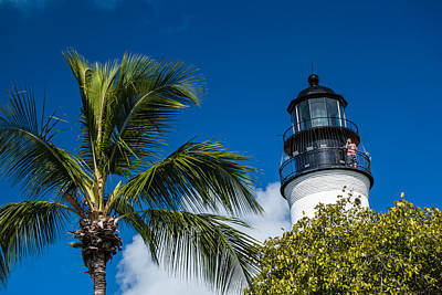 Photograph - Key West Lighthouse by Gene Norris