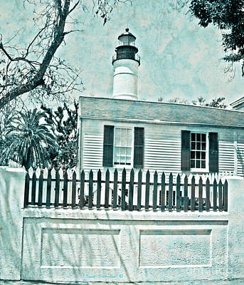 Photograph - Key West Lighthouse Impression by John Stephens