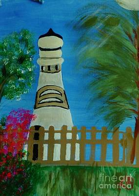 Painting - Key West Lighthouse by Marie Bulger