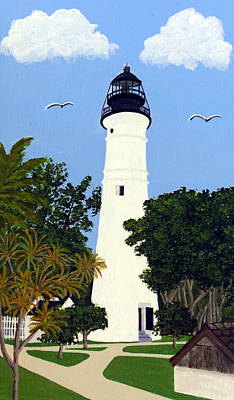 Painting - Key West Lighthouse Painting by Frederic Kohli