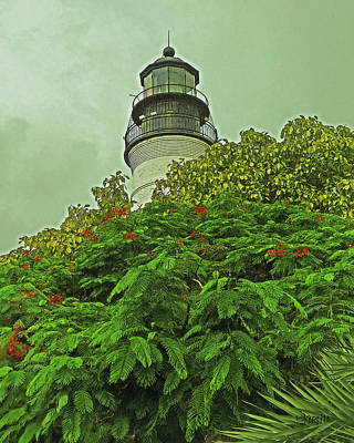 Digital Art - Key West Lighthouse by Rebecca Korpita