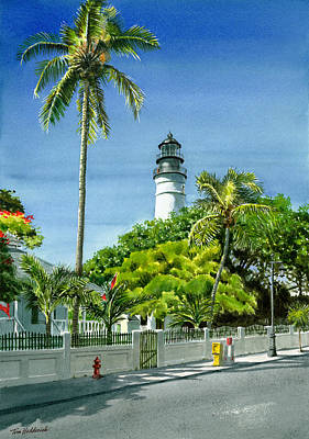Key West Lighthouse Original by Tom Hedderich
