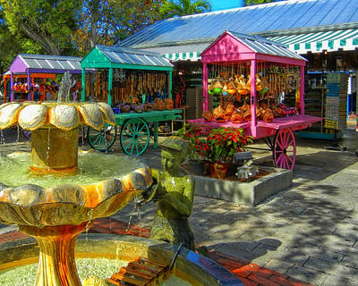 Mannequin Dresses Rights Managed Images - Key West Mallory Square Royalty-Free Image by Bill Swartwout Photography