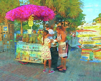 Photograph - Key West Mallory Square Vendors by Rebecca Korpita