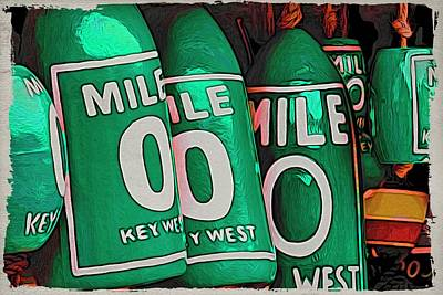 Photograph - Key West Mile Zero by Alice Gipson