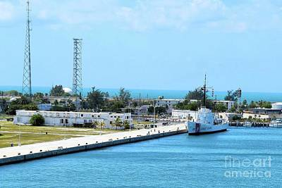 Photograph - Key West Naval Pier by Janette Boyd