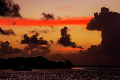 Photograph - Key West Orange Stripe Sunrise by Bob Slitzan