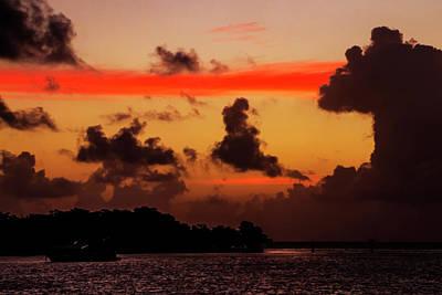 Photograph - Key West Orange Stripe Sunrise by Bob Slitzan